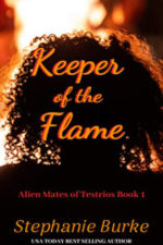 Cover - Keeper of the Flame (Alien Mates of Testrios Book 1)